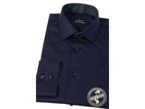 Tmavě modrá pánská SLIM FIT košile, dl.rukáv, 109-3148