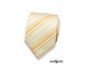 Kravata AVANTGARD 559-1458 Žlutá (Barva Žlutá, Velikost šířka 7 cm , Materiál 100% polyester)