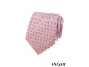 Starorůžová kravata se vzorem