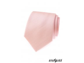 Lososová kravata se vzorovanou strukturou