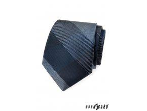 Velmi tmavě modrá kravata se světlým vzorem