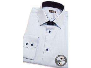 Bledě modrá pánská košile, střih REGULAR, dl.rukáv, 207-4931