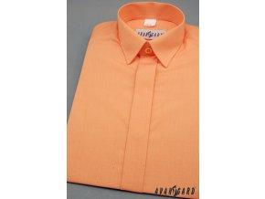 Oranžová dětská klasická košile s krytou légou, 458-10 V10