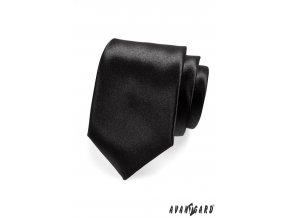 Černá luxusní kravata bez vzoru _