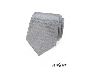 Šedá kravata s velmi nenápadnými proužky
