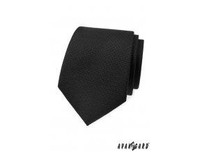 Černá kravata s černým vzorem