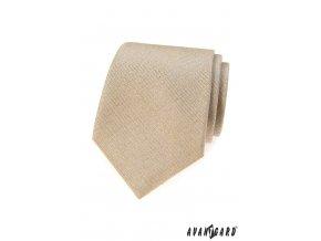 Béžová luxusní kravata