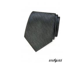Grafitová žíhaná kravata