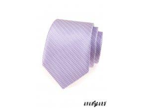 Luxusní velmi světle lila vzorovaná kravata _