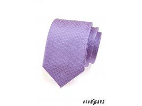 Světle fialová luxusní kravata s malinkými kostičkami _
