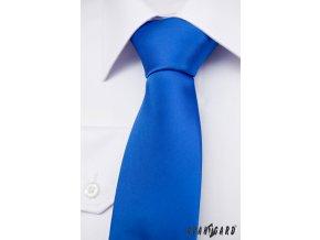 Zářivě modrá jednobarevná kravata