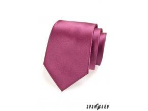 Starorůžová jednobarevná jemně lesklá kravata
