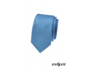 Bledě modrá slim kravata s trojrozměrným efektem