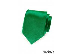 Smaragdová jemně lesklá kravata_