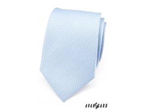 Velmi světle modrá luxusní kravata s jemným vzorem _