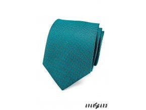 Luxusní kravata v barvě petrol se vzorem