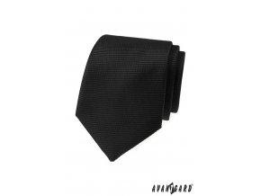 Černá matná luxusní kravata