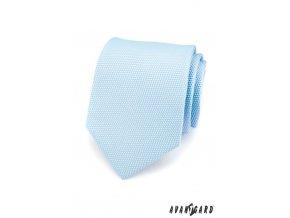 Velmi světle modrá luxusní kravata se vzorem _