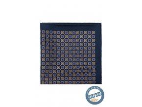 Modrý kapesníček se vzorem 4v1