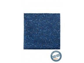 Modrý zajímavě vzorovaný kapesníček