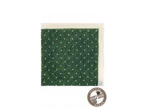 Zelený kapesníček do saka se světlým okrajem