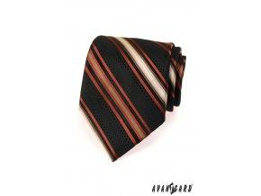 Kravata AVANTGARD LUX 561-70911 Černá (Barva Černá, Velikost šířka 10 cm, Materiál 100% polyester)