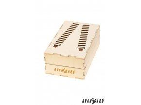 Dřevěná dárková krabička na šle