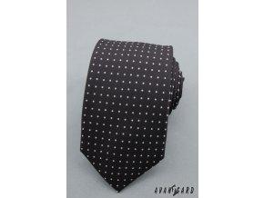 Kravata SLIM AVANTGARD LUX 571-1304 Černá (Barva Černá, Velikost šířka 6 cm, Materiál 100% polyester)