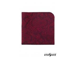 Bordó kapesníček s jemným vzorem