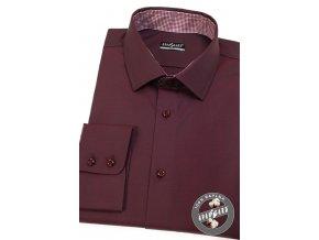 Bordó pánská slim fit košile, dl.rukáv, 109-21113