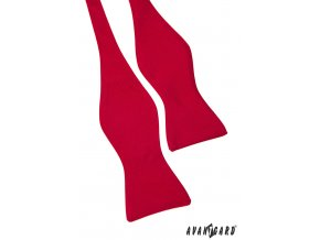 Červený jednobarevný vázací motýlek + kapesníček