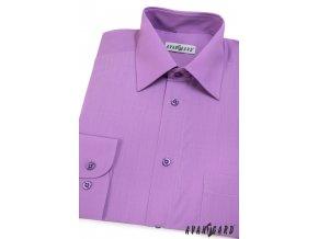 Pánská fialová košile KLASIK s dl.ruk. 451-38