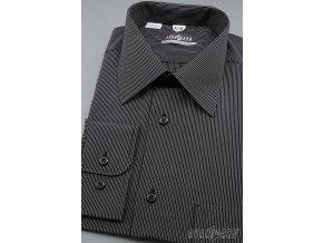 Pánská košile AVANTGARD dl. ruk. 511-2301 2301- černá (Barva 2301- černá, Velikost 40/194, Materiál 70% bavlna a 30% polyester)