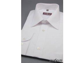 Pánská košile KLASIK dl.ruk 527-1 Bílá (Barva Bílá, Velikost 39/182, Materiál 80% bavlna a 20% polyester)
