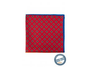 Barevný hedvábný kapesníček s různými vzory