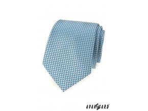 Velmi světle tyrkysová kravata se vzorem