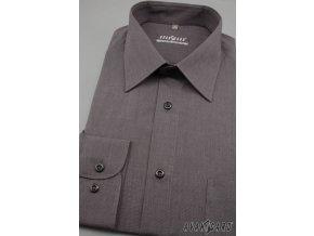 Pánská košile KLASIK dl.ruk 527-1009 Grafitová (Barva Grafitová, Velikost 42/182, Materiál 80% bavlna a 20% polyester)