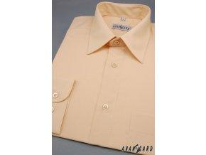 Pánská košile KLASIK s dl.ruk. 451-4 V4-lososová (Barva V4-lososová, Velikost 46/182, Materiál 55% bavlna a 45% polyester)