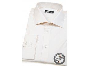 Smetanová pánská košile na manžetové knoflíčky, dl.rukáv, 509-206