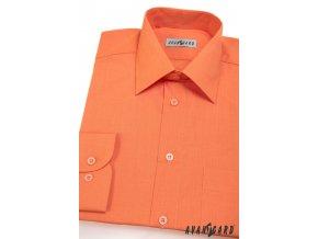 Pánská oranžová košile KLASIK s dl.ruk. 451-10
