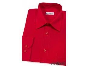 Pánská červená košile KLASIK s dl.ruk. 451-12