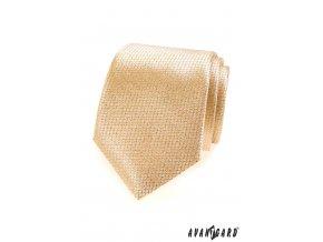 Zlatá kravata s jemnou mřížkou