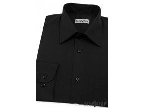 Pánská černá košile KLASIK s dl.ruk. 451-23