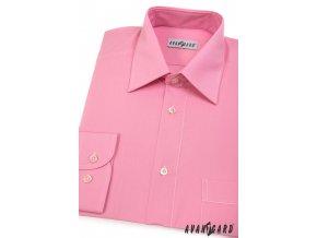 Pánská růžová košile KLASIK s dl.ruk. 451-26