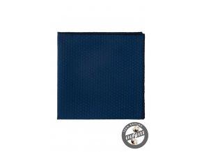 Tmavě modrý kapesníček s jemným vzorem