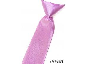 Velmi světle fialová chlapecká lesklá kravata