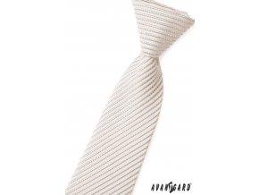 Šedá chlapecká kravata s tenkými proužky