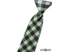 Kravata chlapecká 558-1398 Zelená (Barva Zelená, Velikost délka 31 cm, Materiál 100% polyester)