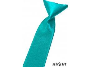 Tyrkysová chlapecká jemně lesklá kravata