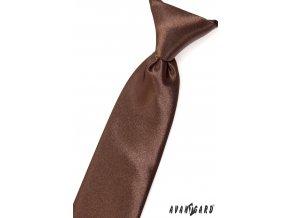 Světle hnědá chlapecká jemně lesklá kravata